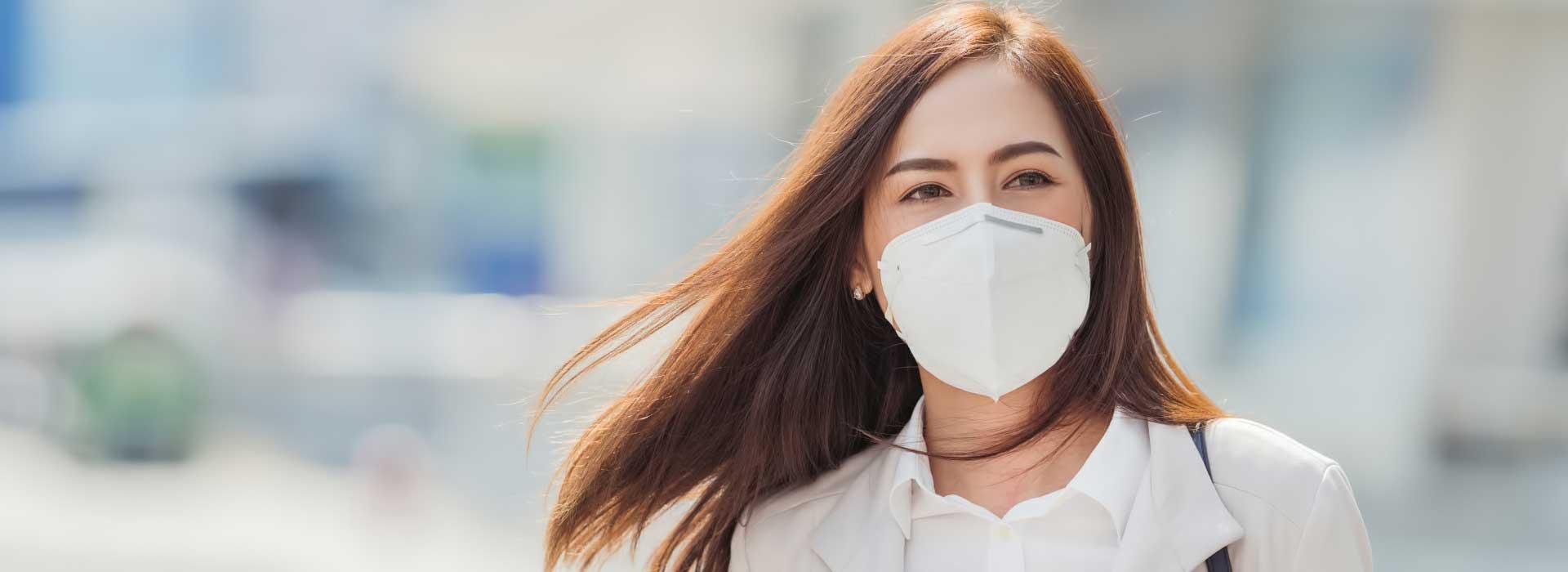 מוצרי הגנה מקורונה - מסכת נשימה לפנים